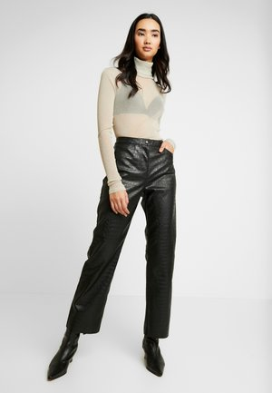 JAMIE TROUSERS - Kalhoty - black