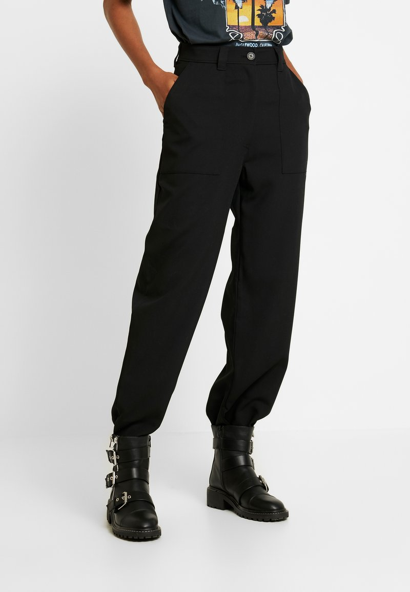 Weekday - QUINN TROUSER - Pantalon classique - black