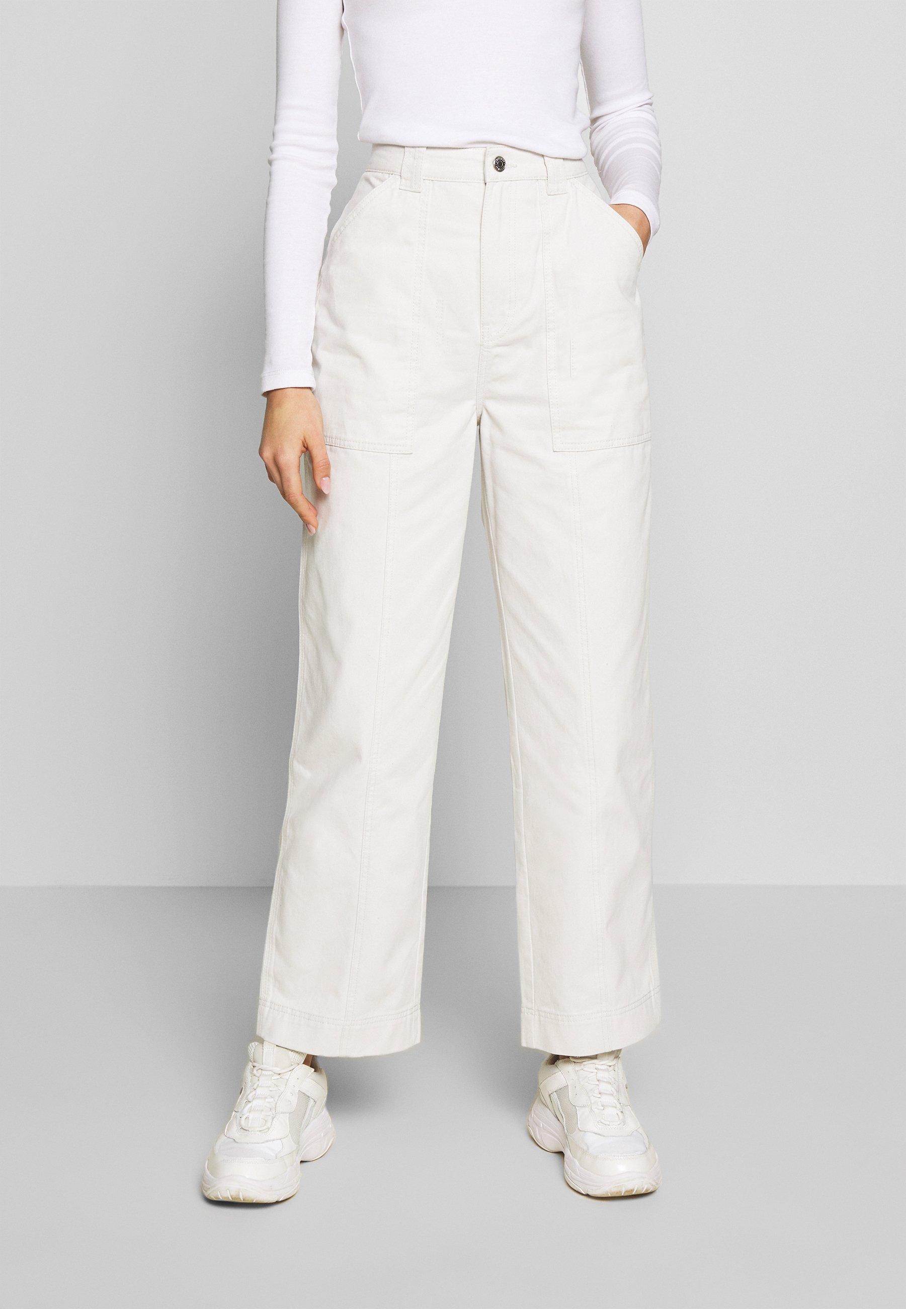 Weekday GWYNETH TROUSER - Spodnie materiałowe - light beige