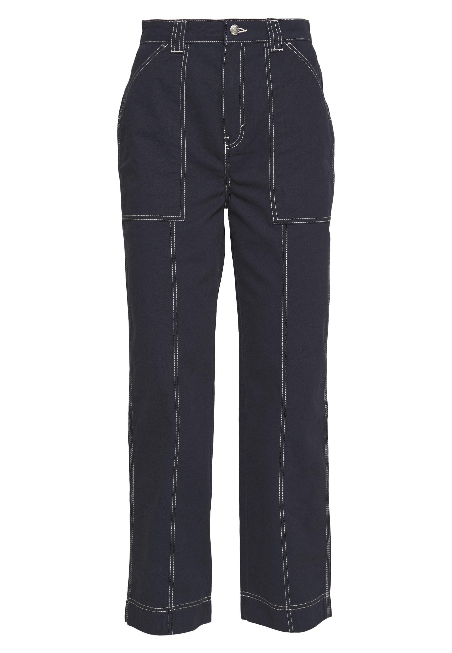 Weekday Gwyneth Trouser - Bukse Dark Navy