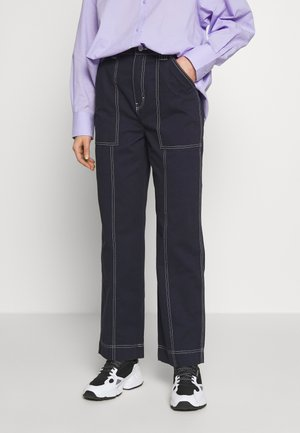 GWYNETH TROUSER - Trousers - dark navy