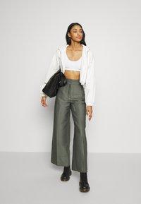 Weekday - TROUSERS - Trousers - dark dusty green - 1