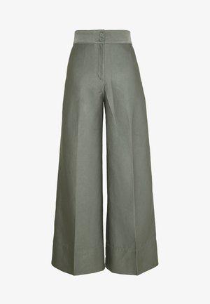 TROUSERS - Kalhoty - dark dusty green