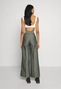 Weekday - TROUSERS - Trousers - dark dusty green - 2