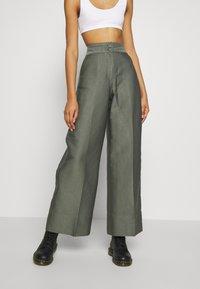 Weekday - TROUSERS - Trousers - dark dusty green - 0
