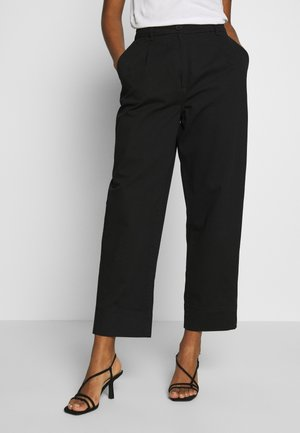 MINO TROUSERS - Bukse - black