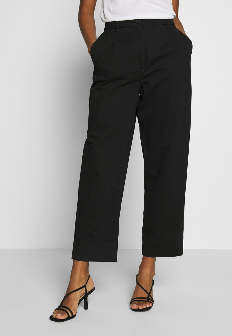 Weekday - MINO TROUSERS - Trousers - black