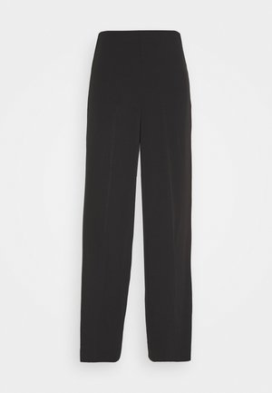JULIA FLUID TROUSER - Stoffhose - black