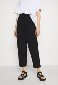Weekday - BARB TROUSERS - Pantaloni - black - 0