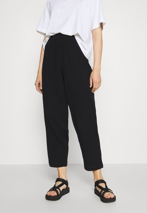 BARB TROUSERS - Bukse - black