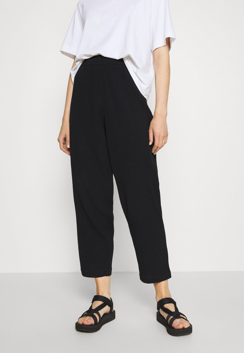 Weekday - BARB TROUSERS - Pantaloni - black