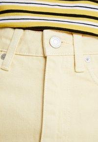 Weekday - WEND SKIRT - Jupe en jean - pale yellow - 5