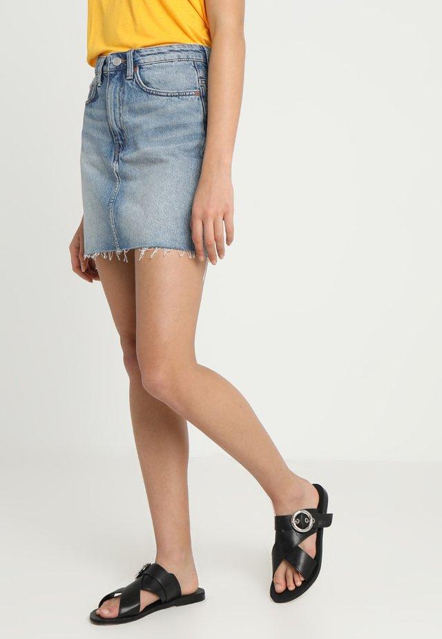WEND SKIRT - Denim skirt - week blue