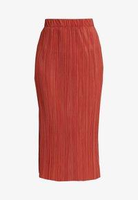 Weekday - KILN SKIRT - Pleated skirt - rust - 3
