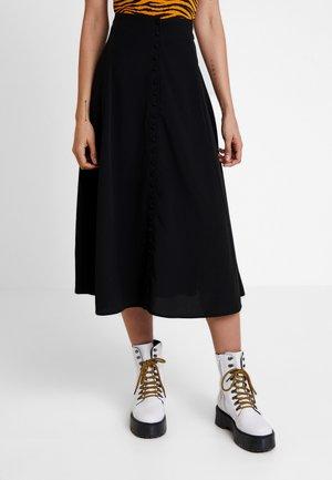 SALLY SKIRT - Jupe longue - black
