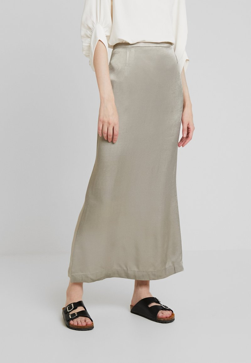 Weekday - SMART SKIRT - Maxi skirt - olive green