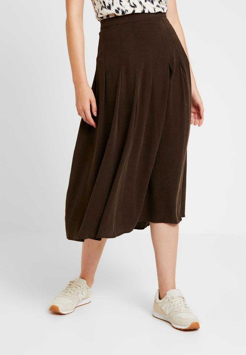 Weekday - AVIA SKIRT - A-Linien-Rock - dark brown