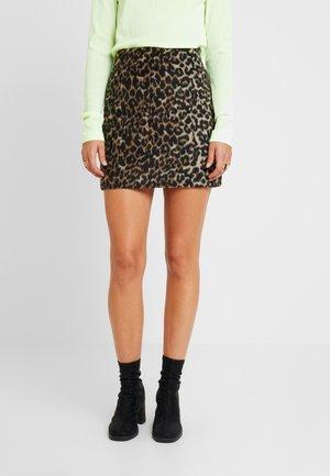 KATHY SKIRT - Spódnica mini - beige/black