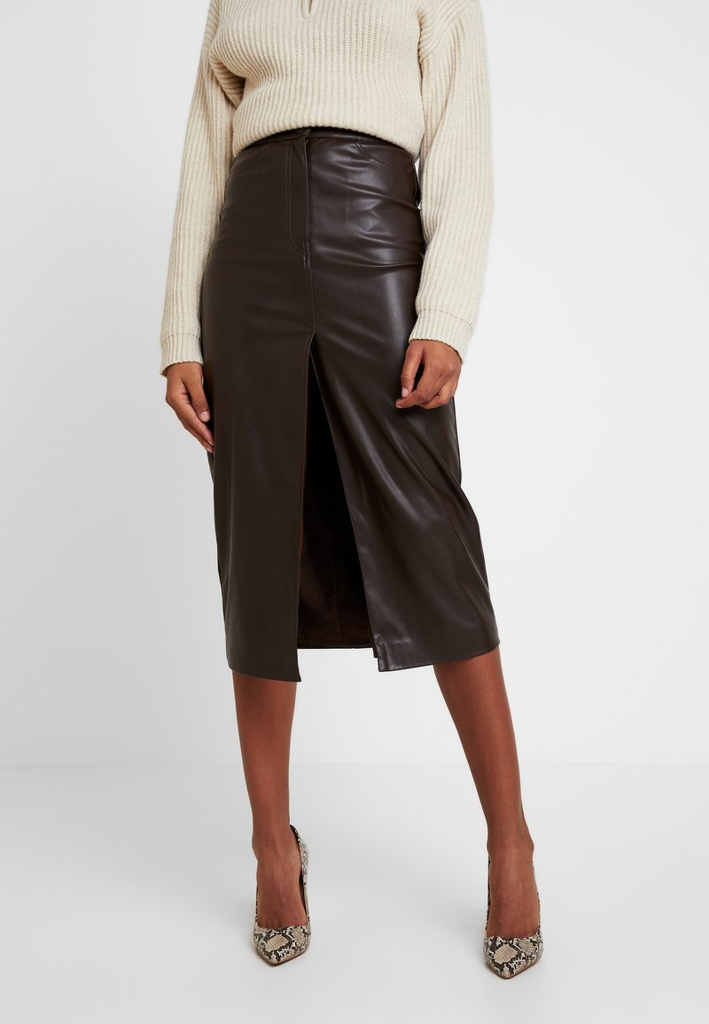 Weekday - EMMIE SKIRT - Pencil skirt - brown