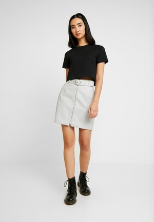 ZINA SKIRT - Mini skirt - light grey beige
