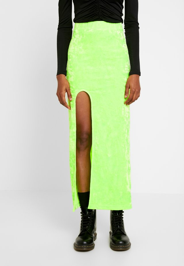 ADRIANA SKIRT - Maxi sukně - green bright