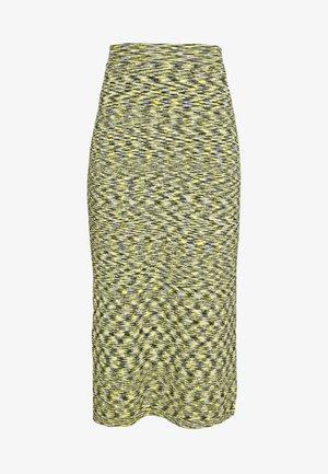 KIRSTEN SKIRT - A-linjekjol - neon yellow
