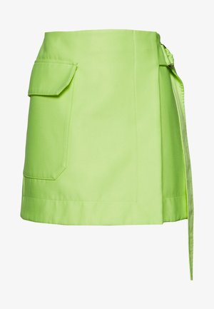HALEY SKIRT - Mini skirt - neon yellow