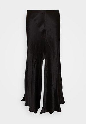 WAVE SKIRT - Áčková sukně - black