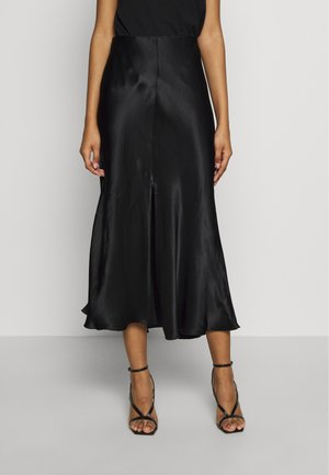 WAVE SKIRT - A-linjainen hame - black