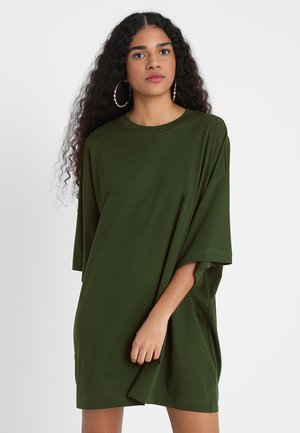 HUGE DRESS - Jerseykjole - green dark