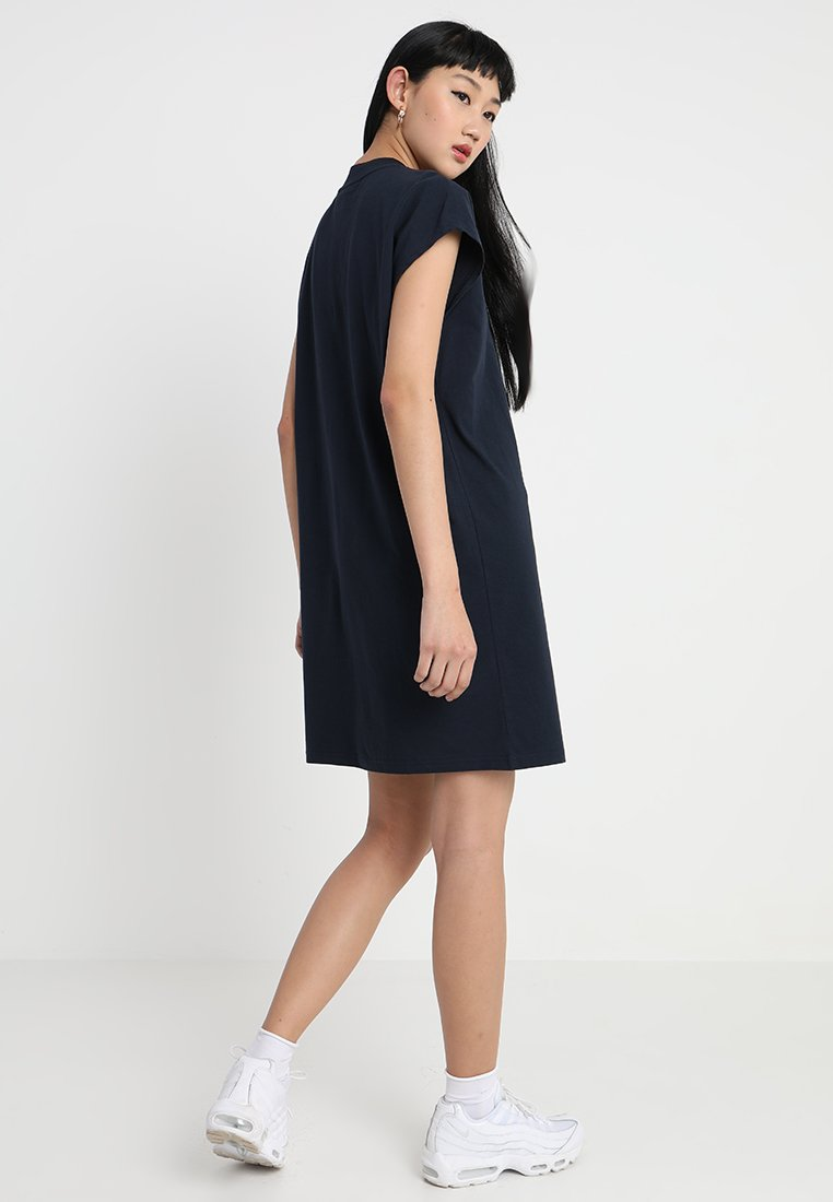 Jersey Weekday Prime Dark DressRobe En Blue f6bgY7y