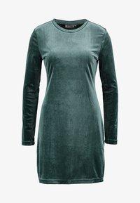 Weekday - FRAY DRESS  - Robe fourreau - dark green - 4