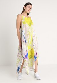 Weekday - MOSS STRAP DRESS - Maxikleid - off-white/multi-coloured - 2