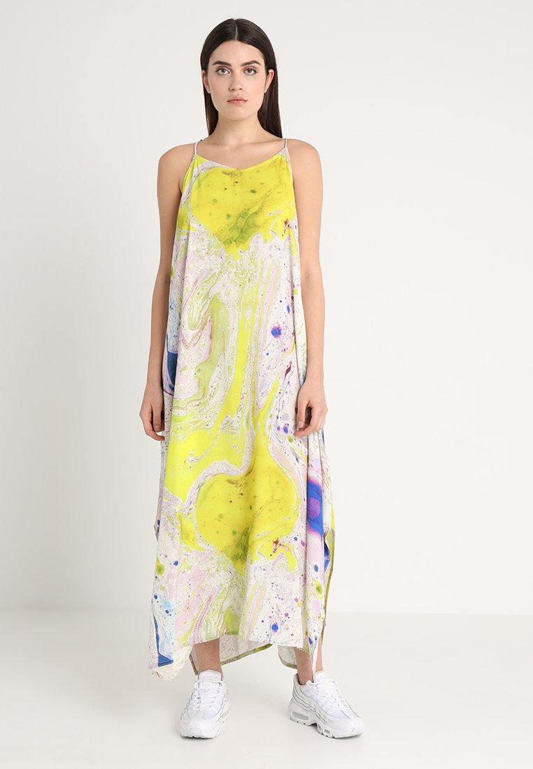 Weekday - MOSS STRAP DRESS - Maxikleid - off-white/multi-coloured