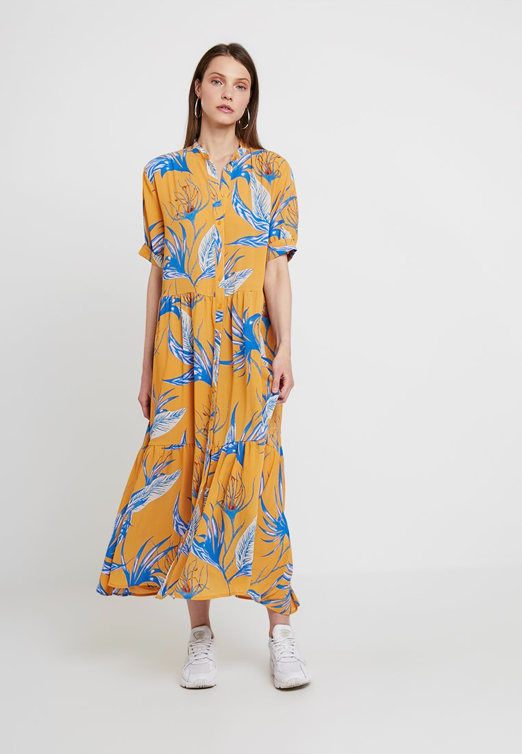 Weekday - STORM DRESS - Blusenkleid - light yellow/blue