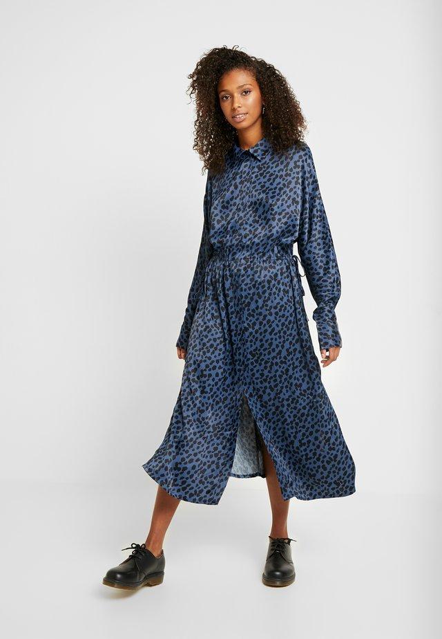 CECILIA DRESS - Shirt dress - blue
