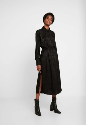CECILIA DRESS - Skjortekjole - black dark
