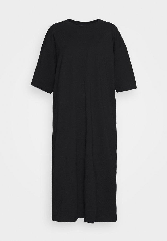 INES DRESS - Žerzejové šaty - black