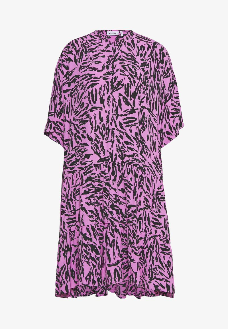 Weekday - IVA DRESS - Korte jurk - purple/black