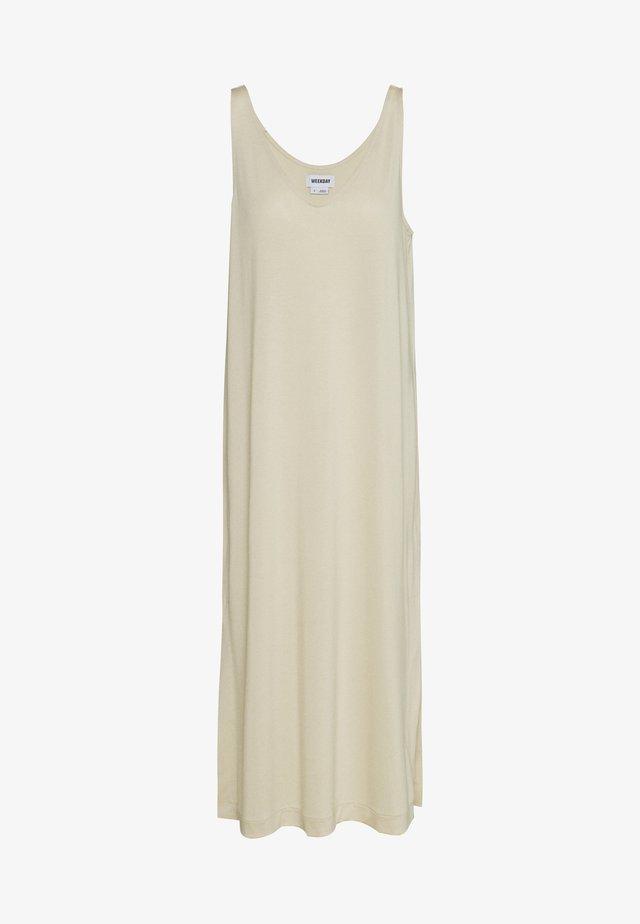 ABBY DRESS - Vestido largo - light beige