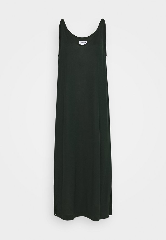 ABBY DRESS - Maxi šaty - bottle green