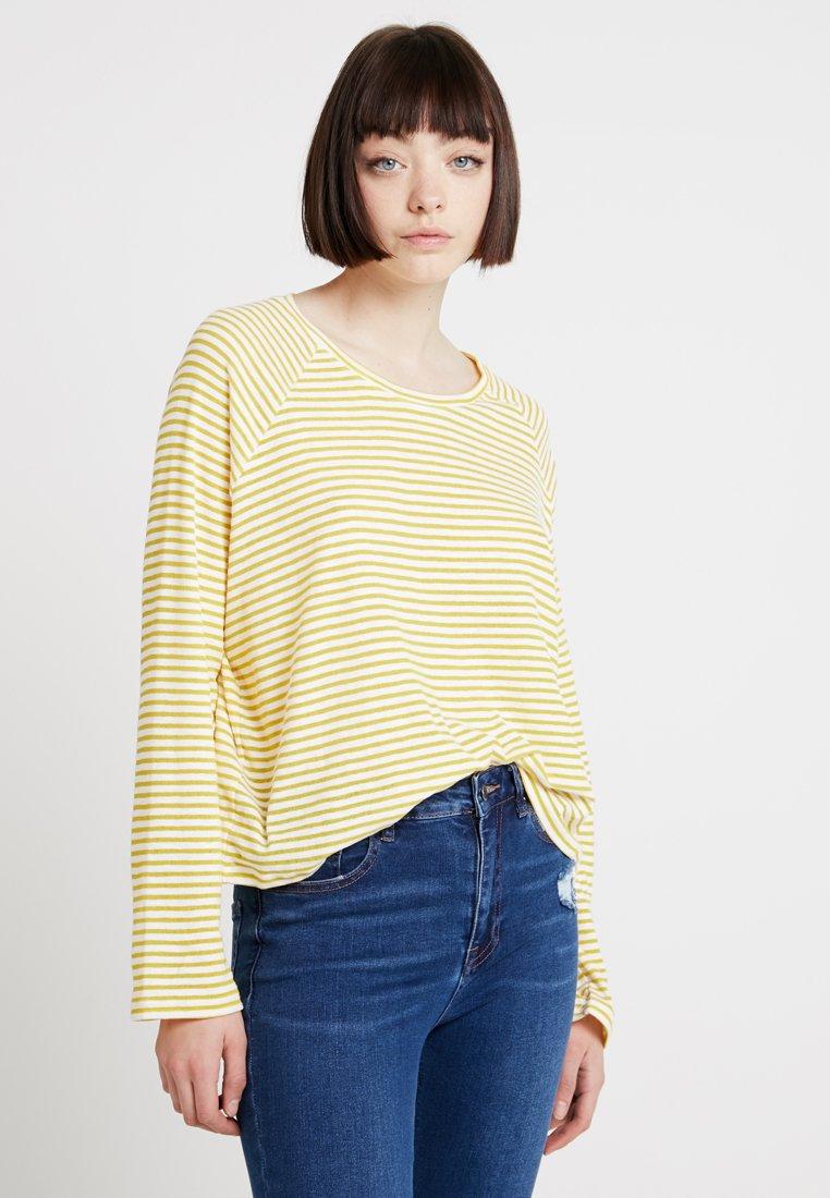 Weekday - BASE BOXY - Langarmshirt - yellow/white