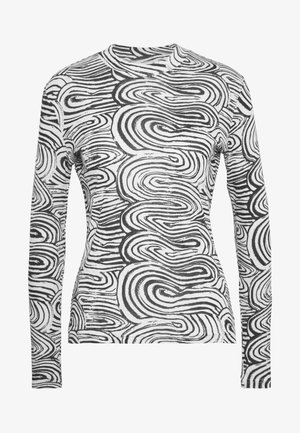MEJA LONG SLEEVE - Top s dlouhým rukávem - black/white