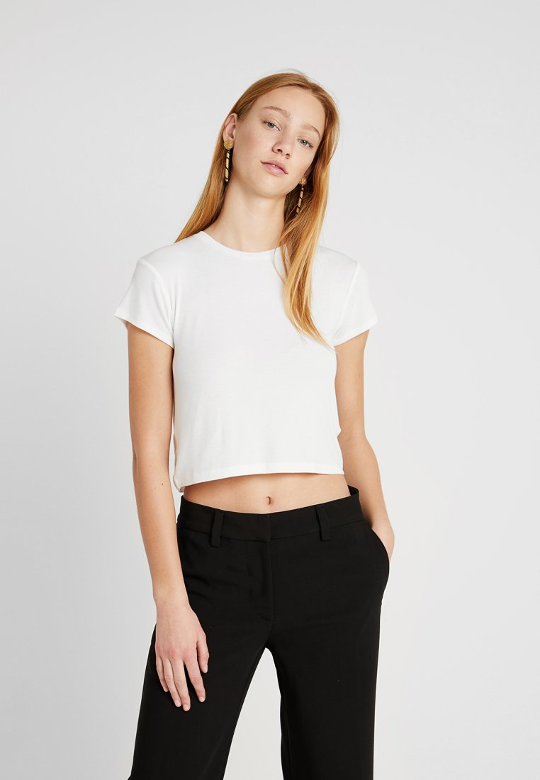 Weekday - FRANCES  - T-shirt - bas - white