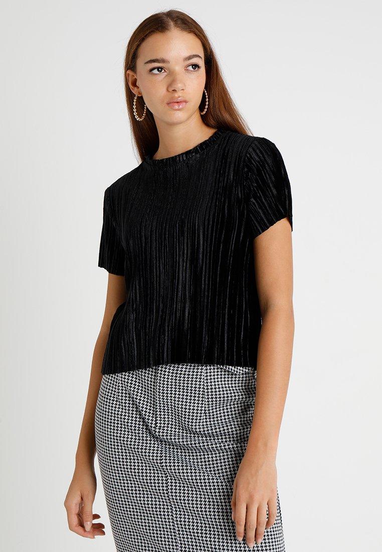 Weekday - CUATRO - Camiseta estampada - black