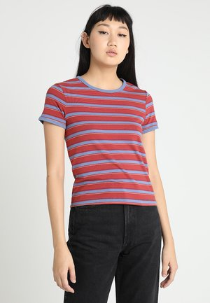 DANIKA STRIPE - T-shirt print - red