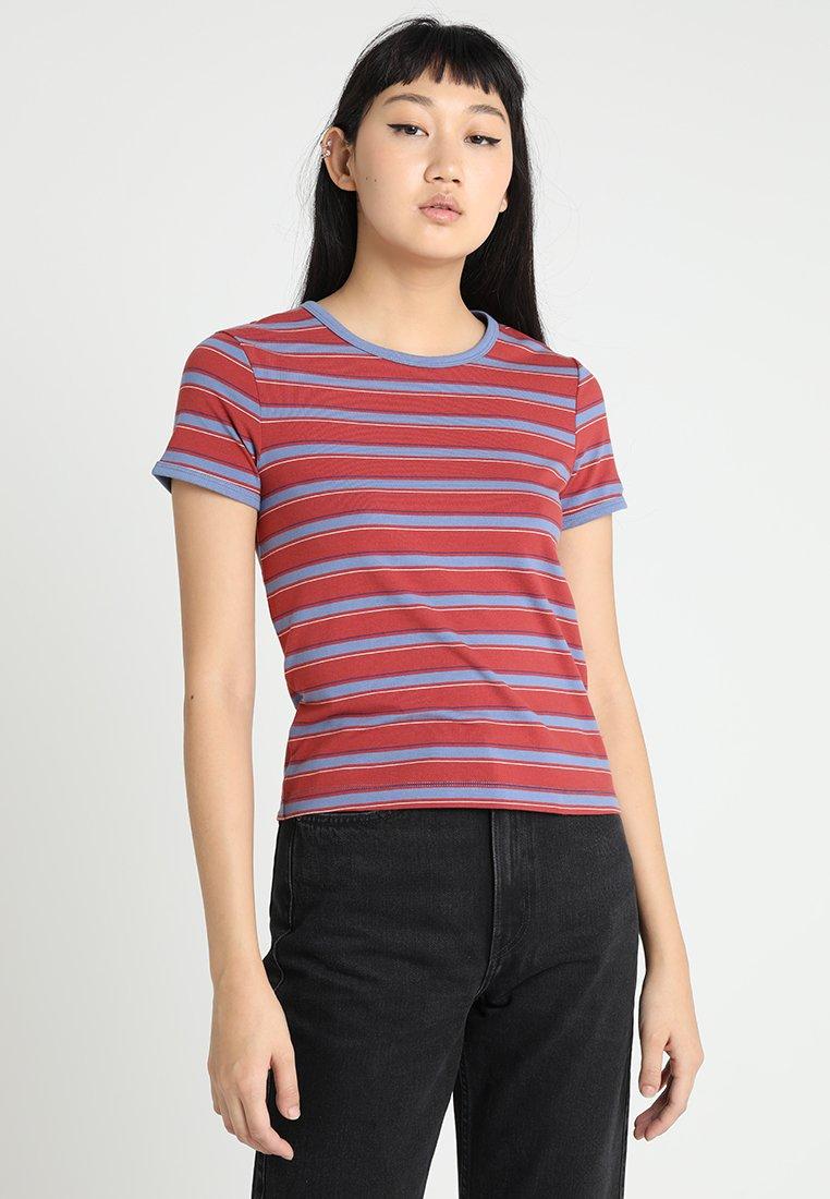 Weekday - DANIKA STRIPE - Camiseta estampada - red