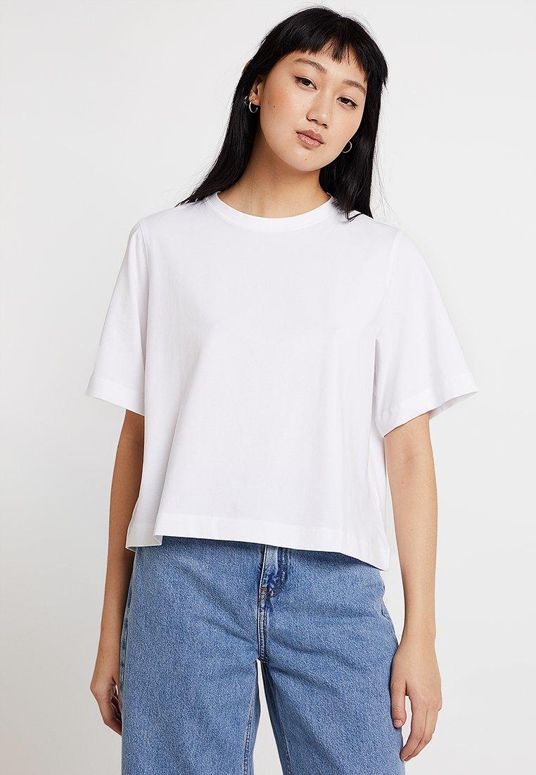 Weekday - TRISH - T-shirts basic - white