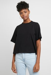 Weekday - TRISH - T-shirts - black - 0