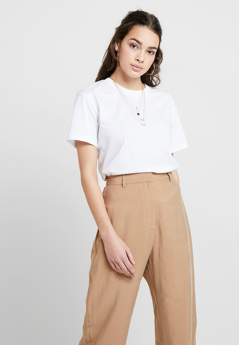 Weekday - ALANIS - T-Shirt basic - white